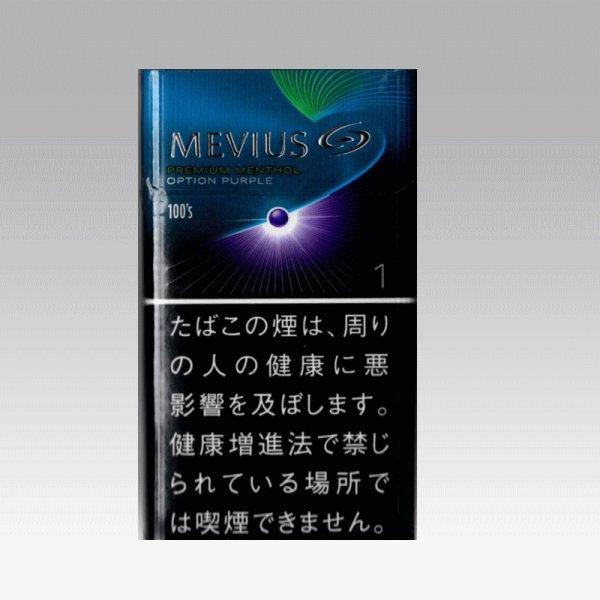 画像1: メビウス・プレミアムメンソール・オプション・パープル・ワン・100's (1)